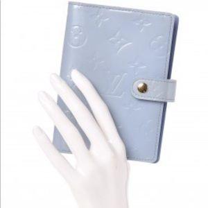 Louis Vuitton Blue Vernis Agenda/planner & Wallet